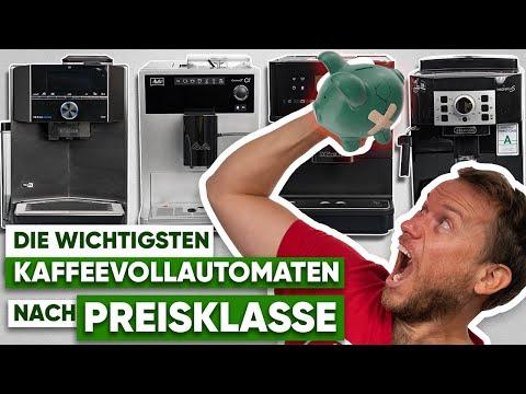 Kaffeevollautomaten nach Preisklassen   Was muss ich ausgeben?