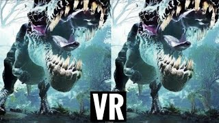 Dinosaur VR VIDEO 3D Split Screen for Virtual Reality VR BOX 3D not 360 VR