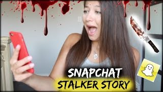 MY CREEPY SNAPCHAT STALKER! SENDING ME PICTURES OF ME! // Story Time