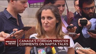 Canada foreign minister: 'We're not there yet' on trade deal
