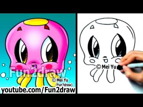 Fun2draw jellyfish fun2draw stars by the funny drawers for Fun to draw cute animals
