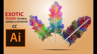 Exotic Cute Feather Design Adobe Illustrator CC 2017 Tutorials