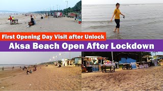 Aksa Beach Opened After LockDown | Malad West Mumbai | First Day Visit | Opened After 7 months