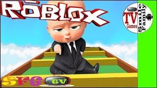 ПОБЕГ от ЗЛОГО БОССА из офиса ROBLOX босс молокосос Игровой мультик  от детского канала SFGTV