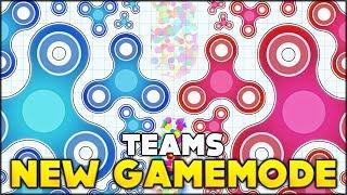 BRAND NEW GAMEMODE ⭐ RED VS BLUE TEAM GAMEMODE | FidgetSpinner.io - Spinz.io (Games like Agar.io)