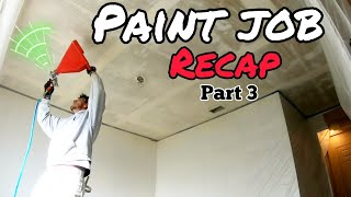 $5000 PAINT job Recap Part 3 /  HOW TO DO KNOCK DOWN TEXTURE ON A CEILING