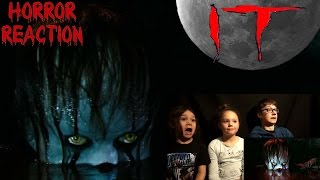 IT Official Trailer #1 Kids Reaction!!! | Kid Shakes In Fear!