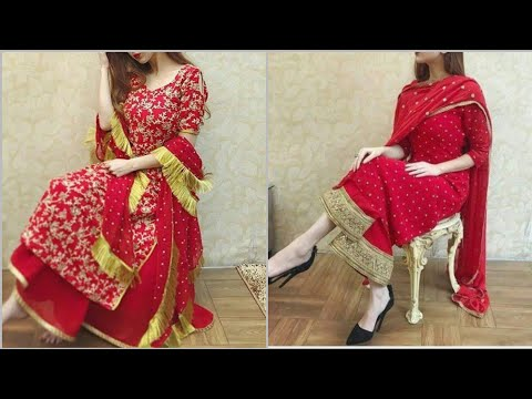 Amazing red suits design 2019-2020/red kurti designs/red color dresses/