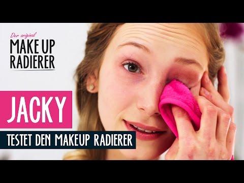 Waterproof Mascara NUR MIT WASSER entfernen. Jacky testet den MakeUp Radierer