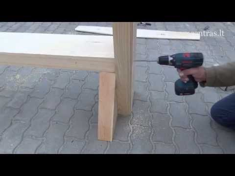 Medinio suolo surinkimas | Lauko baldų gamyba savo rankomis