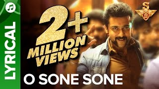 O Sone Sone | Lyrical Video | S3 | Suriya, Anushka Shetty, Shruti Haasan