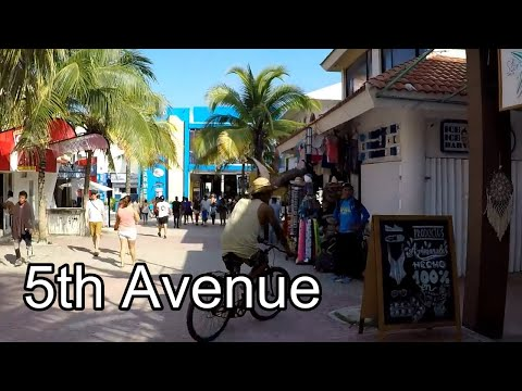 Walking Tour 5th Avenue, Playa del Carmen, Mexico