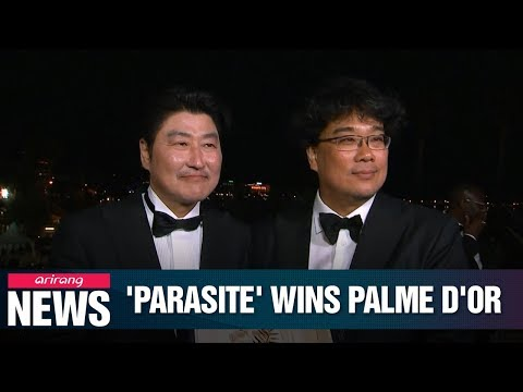 S. Koreas film director Bong Joon-ho's 'Parasite' grabs Palme d'Or at Cannes