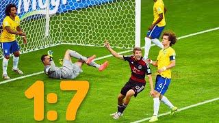 Бразилия - Германия 1-7 Полуфинал Чемпионата Мира 2014 Бразилия - Германия 2014 Brazil vs Germany