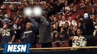 San Diego Fan Flips Double-Bird At L.A. Chargers Rally