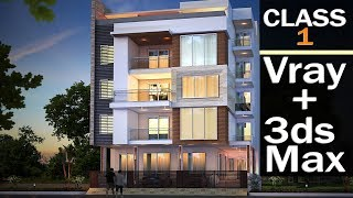 vray exterior night or evening rendering in 3ds max skechup to 3ds