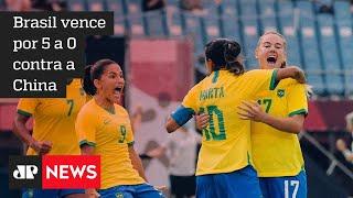Seleção feminina vence na estreia por 5 a 0 na Olimpíada de Tóquio