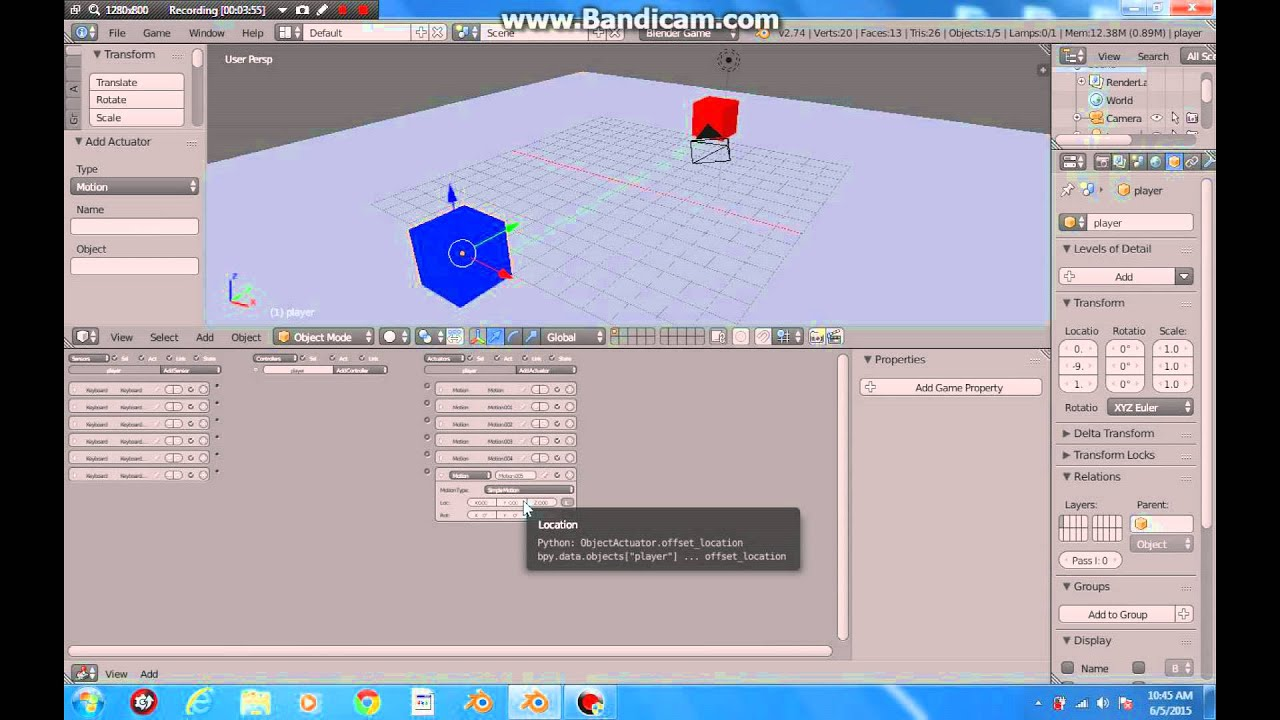 Making 3d game from scratch  in blender ( UPBGE )