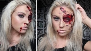♡ Burnt&Bloody SFX Makeup ♡ Halloween Tutorial - Liquid Latex