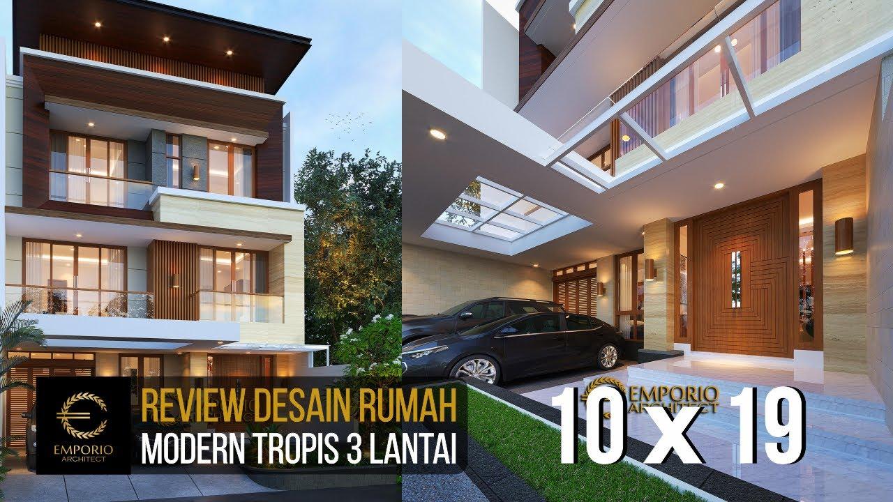 Video 3D Desain Rumah Modern 3 Lantai Bapak Teddy - Jakarta Utara