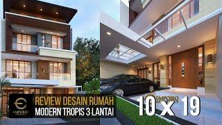 Video Desain Rumah Modern 3 Lantai Bapak Teddy di  Jakarta Utara