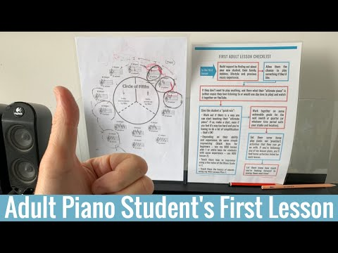 How to teach the first lesson to an adult piano student
