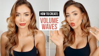 Big Voluminous Romantic Waves | Pia Muehlenbeck Bridal Hair Look Tutorial