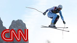 The race where skiers fly in Italy