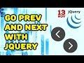 How to hide or show previous or next div with jQuery