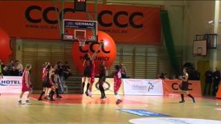 preview picture of video 'CCC Polkowice - Wisła Can-Pack Kraków 56-49.mpg'
