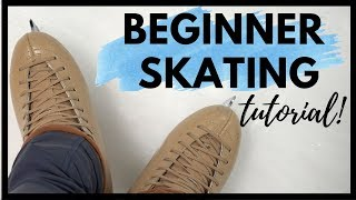 ICE SKATING FOR BEGINNERS! Skating Lesson
