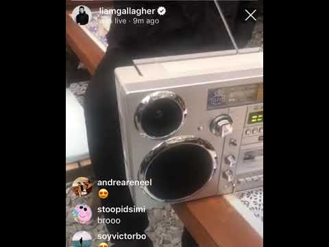 Liam Gallagher Instagram Live 30/5/2019 Unveiling His New Single SHOCKWAVE