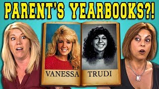 TEENS REACT TO THEIR PARENT'S YEARBOOKS - Video Youtube
