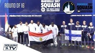 Squash: Egypt v Finland - Men