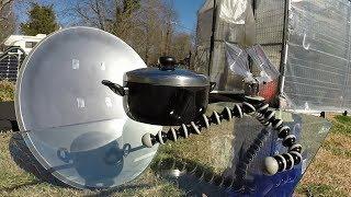 Parabolic Satellite Dish Conversion - Solar Cooker