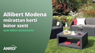 Allibert Modena műrattan kerti bútor szett - szerelési útmutató