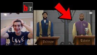 LEBRON ROASTING THE LOTTERY TEAMS! HAHAHA! GAME OF ZONES NBA LOTTERY REACTION