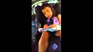 """2 year old singing """"Good News"""" by Daley"""