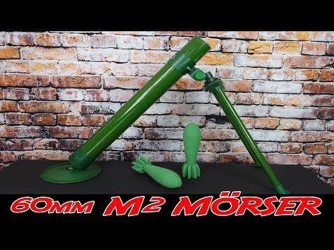 [REVIEW] 60mm MÖRSER M2 MIT SCHAUMSTOFF GRANATEN | VORSTELLUNG + SCHUSSTEST