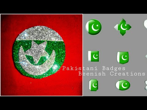 How to make paper badge || diy: independence day craft 🇵🇰|| Pakistan day Special | Pakistani flag