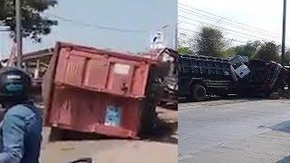 Kecelakaan Maut Libatkan 3 Truk di Tegal, 2 Orang Tewas