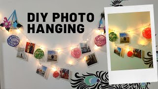 DIY Photo Hanging Display| Easy Wall Decor Idea With Photo Display (Photo Hanging 2020)