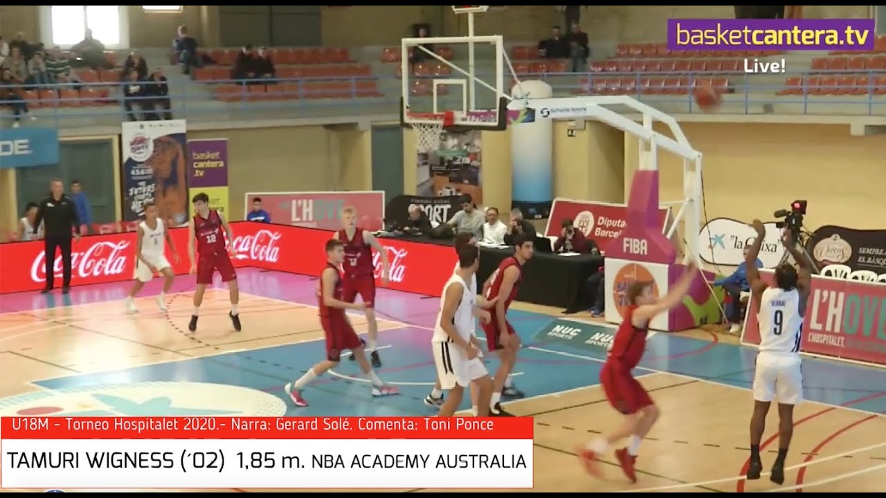 TAMURI WIGNESS (´02) 1,85 m. NBA Global Academy Australia. Torneo Hospitalet 2020 (BasketCantera.TV)
