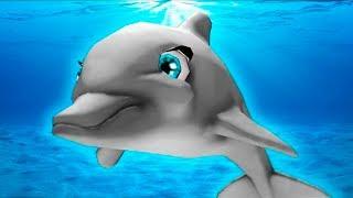 МАЛЕНЬКАЯ РЫБКА #1 Дельфин и морские рыбки в бассейне аквариуме. Видео для детей с Кидом #ПУРУМЧАТА