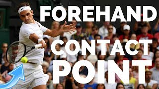 Tennis Forehand Contact Point   How To Hit Clean Forehands