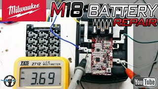 Milwaukee M18 Lithium Battery Troubleshooting and Repair (Solved)