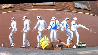 Michael Jackson - Smooth Criminal: Street Art in Liverpool by Paul Curtis