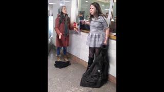ДРАКА С МЕНТОМ В МЕТРО