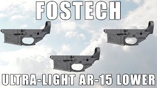 Fostech Fighter Lite Ultra-Lightweight Magnesium AR-15 Stripped Lower Receiver - Extremely Minor Finish Blem