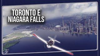 De Toronto até Niagara Falls no FLIGHT SIMULATOR!